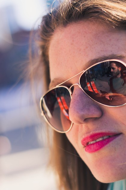Woman, Sunglasses, Portrait, Reflection