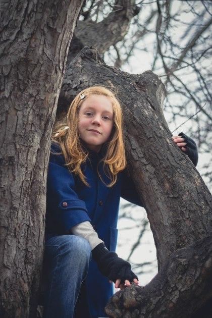 girl, tree, climb