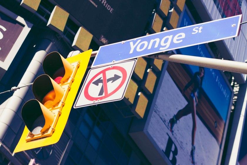 Toronto, Yonge Street, Yonge-Dundas Square, Street, Photography, Streetlight