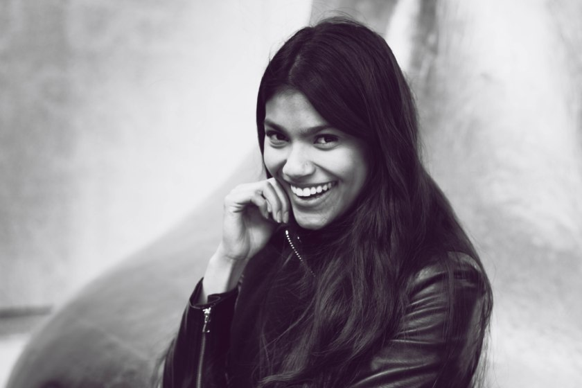 woman, portrait, toronto, model, smile, happy, black and white, bw