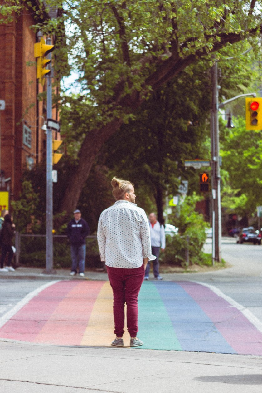 toronto, gay, village, church street, rainbow, man, street