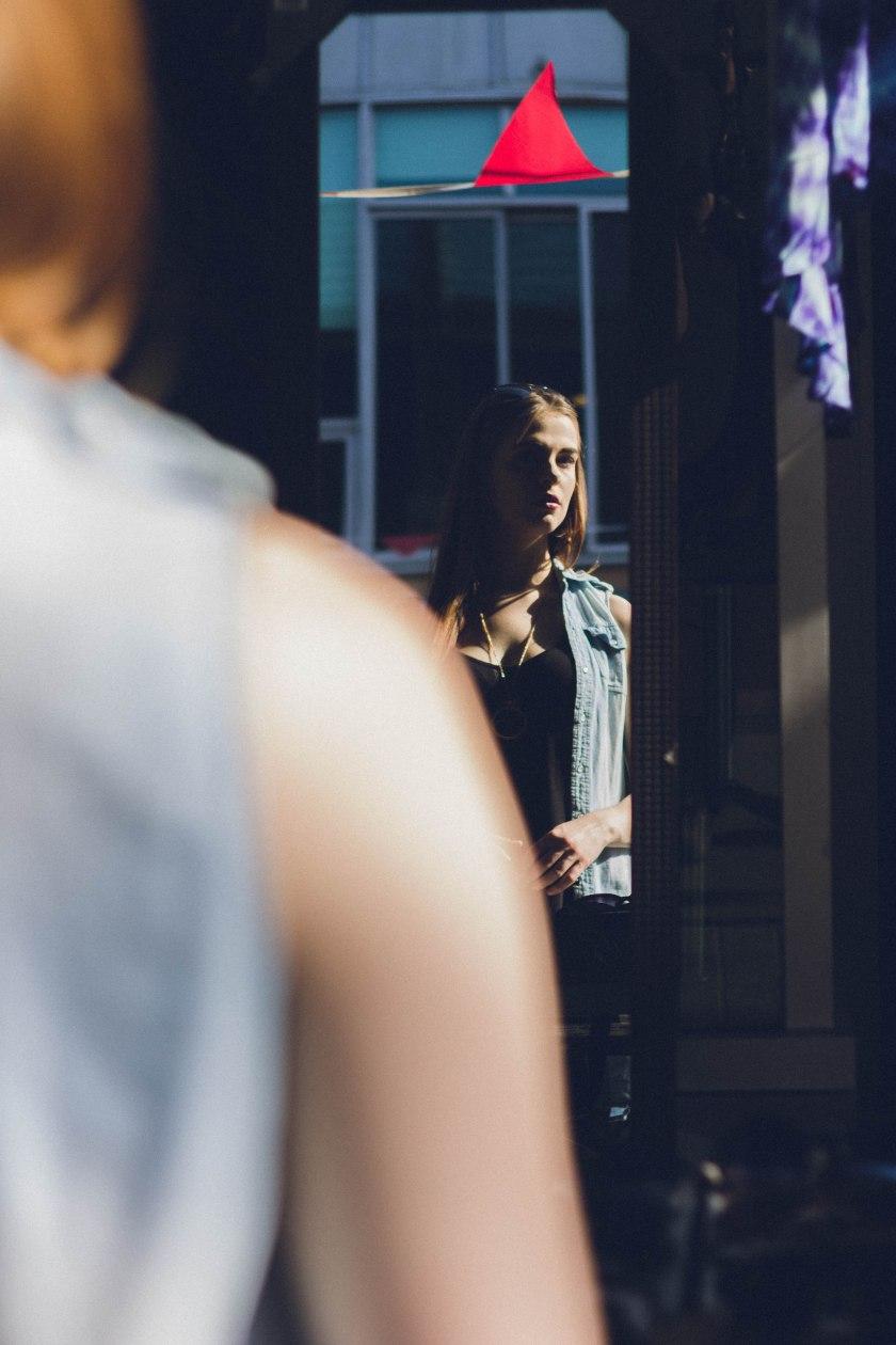 model, toronto, kensington market,  fashion, portrait
