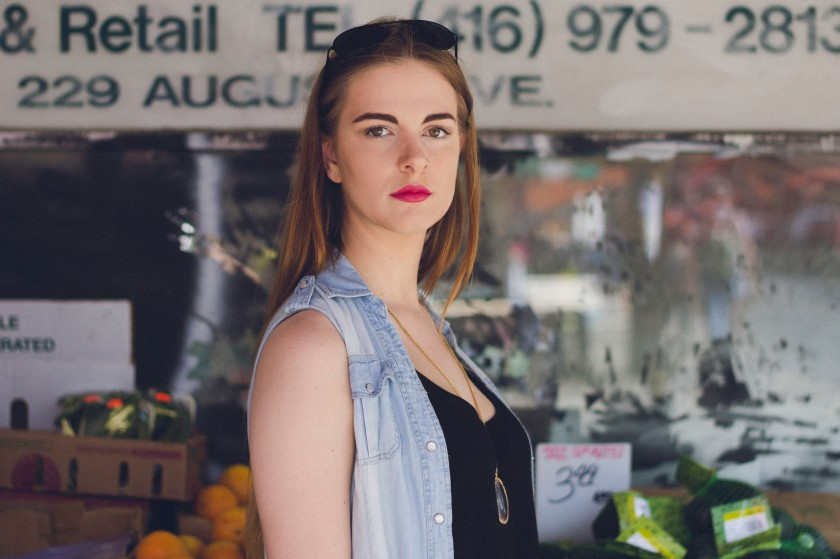model, toronto, kensington market, fashion, portrait