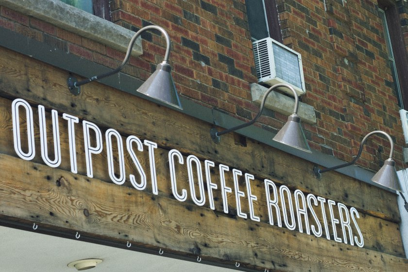 sign, coffee shop, toronto