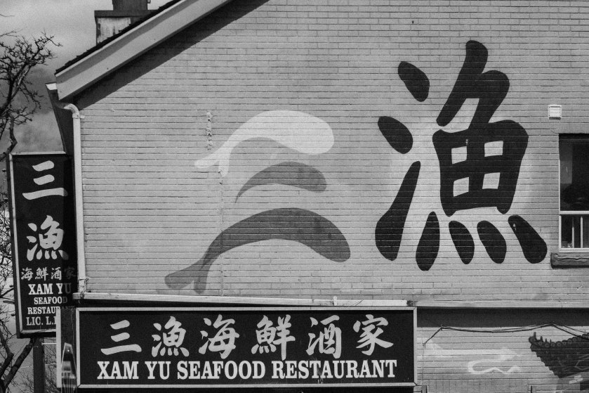 Toronto, chinese, restaurant, xam yu, spadina, black and white, bw