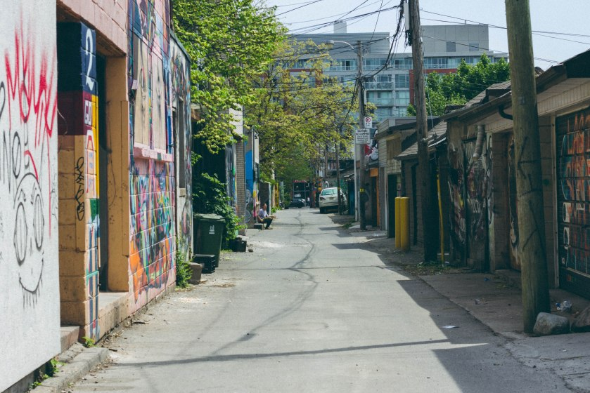 toronto, alley, graffiti,