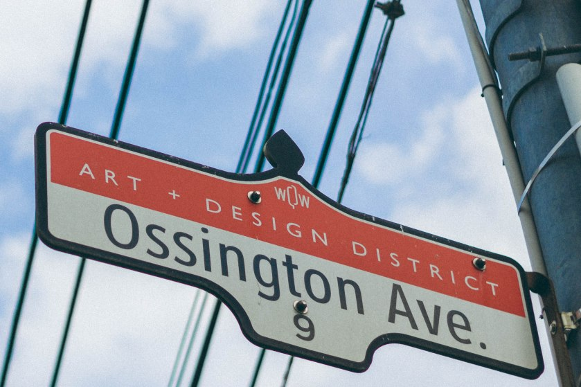street sign, toronto, ossington, design, art