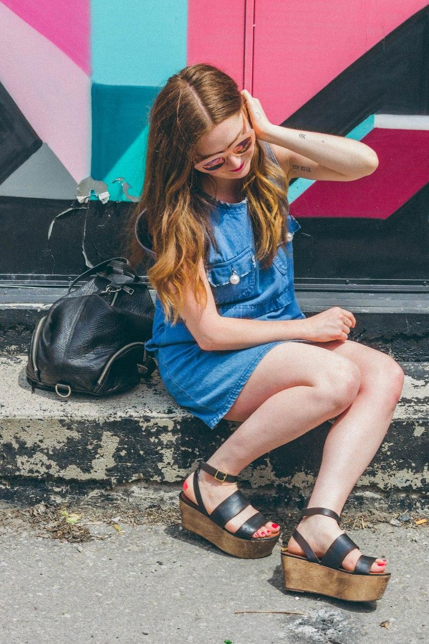woman, model, fashion, toronto, portrait, art, graffiti