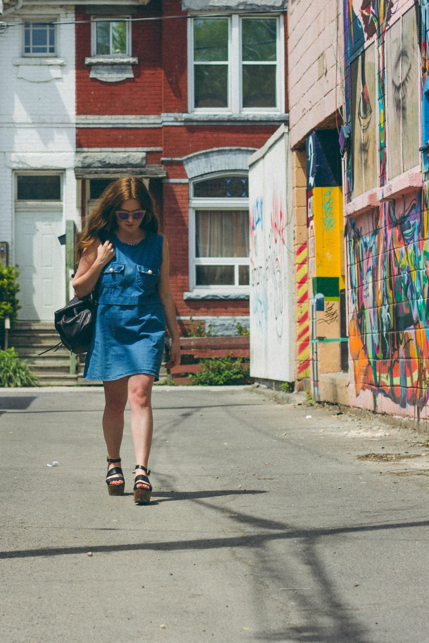 woman, model, fashion, toronto, portrait, art, graffiti
