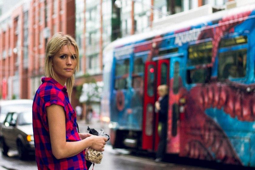 Portrait, Woman, Toronto, King Street, Liberty Village