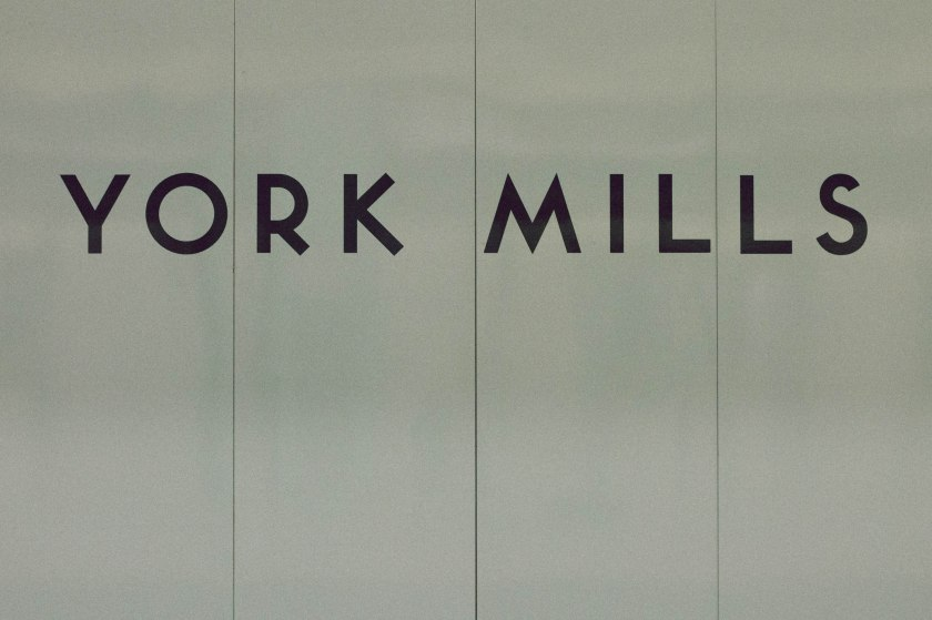 sign, text, york mills, ttc, subway, toronto