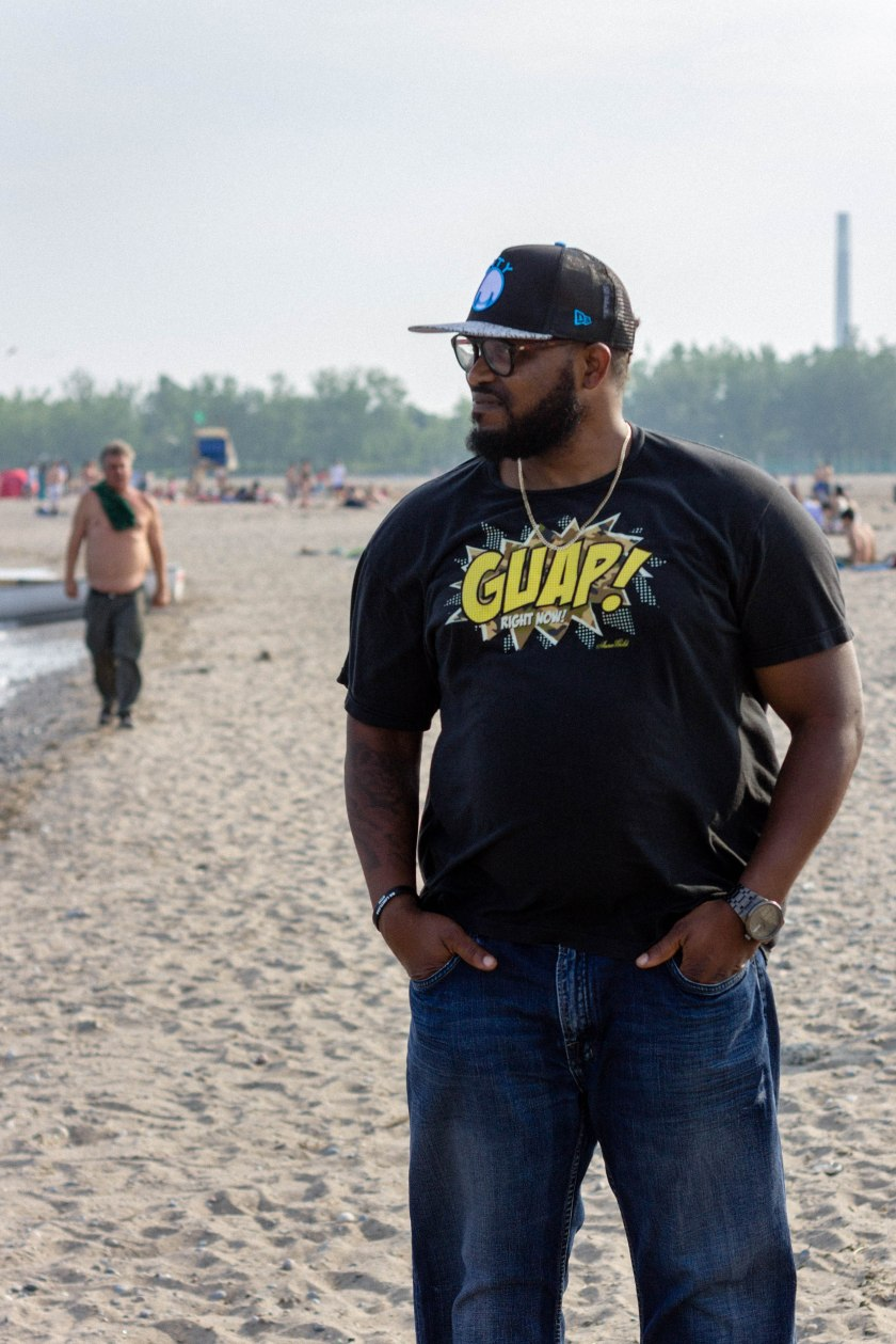 man, beach, portrait, toronto