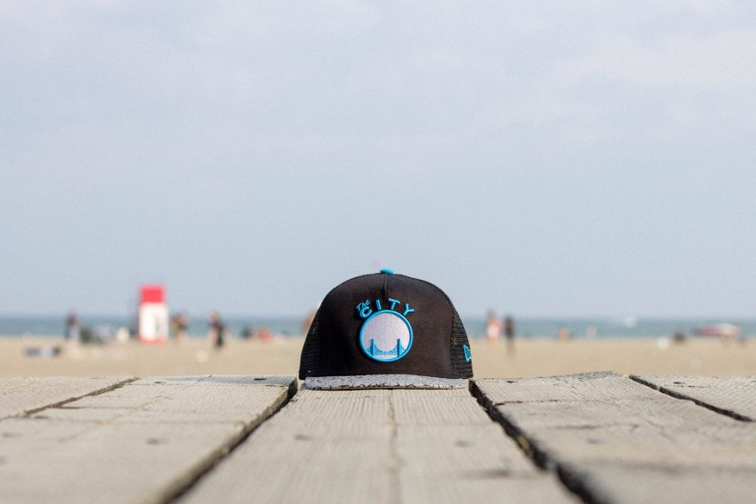 hat, beach, still life, toronto, city