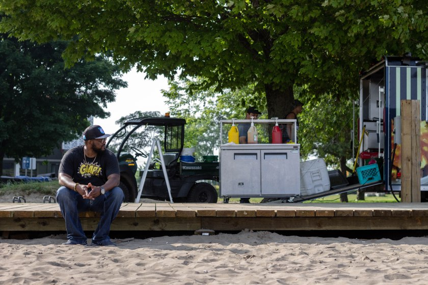 man, portrait, beach, toronto