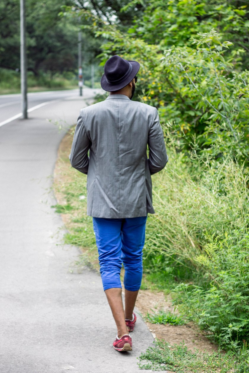 Portrait, style, fashion, park, man, toronto